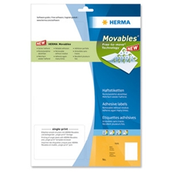 Herma Movables Labels Repositionable White [1200 product image